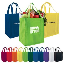 Custom Atlas Nonwoven Grocery Shopping Tote Bag