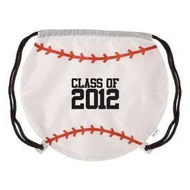 Promotional Gametime Baseball Drawstring Backpack