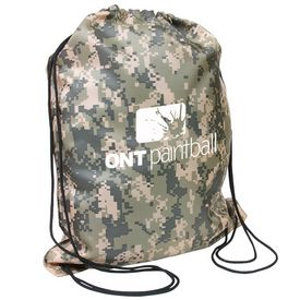 Promotional Military Digital Camo Drawstring Backpack