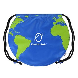 Customized World Globe Drawstring Backpack