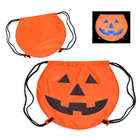 Custom Partytime Pumpkin Drawstring Backpack