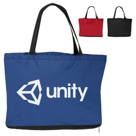 Promotional Pongee Tote Sold With All In One Umbrella Bag