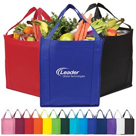 Customized Saturn Jumbo Nonwoven Grocery Tote Bag