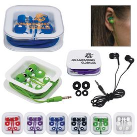 Promotional Square Case Portable Earbuds