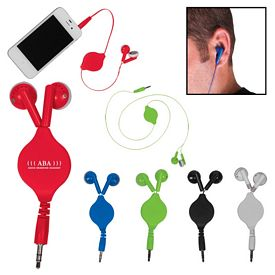 Promotional 34 Retractable Ear Buds