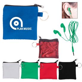 Promotional Zip Pouch Ear Buds