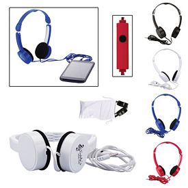 Promotional Folding Headphones With Microphone
