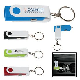 Customized Swivel Usb Car Adapter Key Chain
