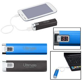 Promotional Portable Metal Power Bank Charger With Led Display