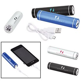 Promotional Portable Cylinder Metal Power Bank Charger