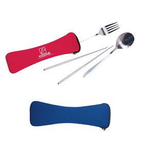 Promotional 3 Piece Travel Cutlery Set