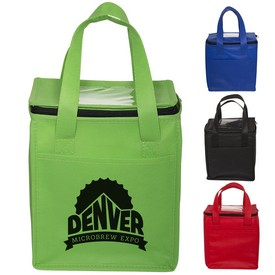 Customized Non-Woven Cubic Lunch Bag W- Id Slot