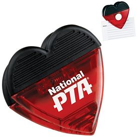 Promotional Heart Magnetic Memo Clip