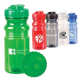 Customized 20 Oz Translucent Sport Bottle With Snap Cap