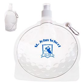 Promotional Hydropouch 24 Oz Golf Ball Collapsible Water Bottle