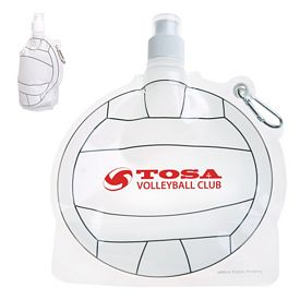 Custom Hydropouch 24 Oz Volleyball Collapsible Water Bottle