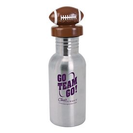 Promotional 17 oz. Stainless Bottle with Football Lid