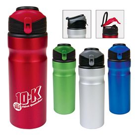 Promotional 24 Oz Aluminum Flap Cap Water Bottle
