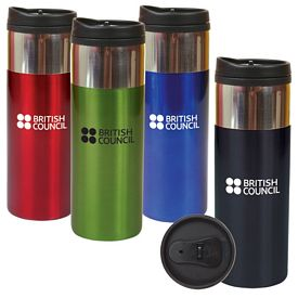 Custom 14 Oz Chrome Band Tumbler
