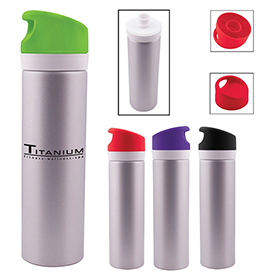Promotional 20 Oz Aluminum Duo Lid Bottle