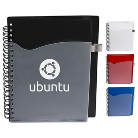 Promotional Polypro Notebook With Clear Pocket