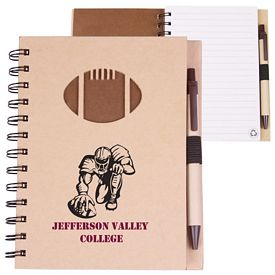 Promotional Recycled Die Cut Notebook: Football