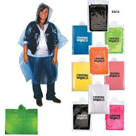 Customized Compact Disposable Rain Poncho