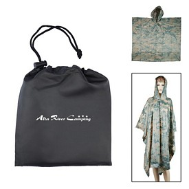 Promotional Digital Camo Poncho In Pouch