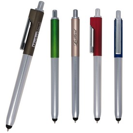 Custom Ambient Metallic Click Duo Pen Stylus