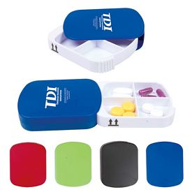 Promotional 4 Compartment Plastic Pill Case