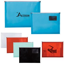 Promotional Zip Closure Envelope With Business Card Slot