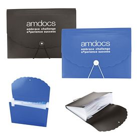 Promotional Pp Accordion Document Case With Elastic Closure