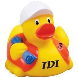 Promotional Construction Worker Rubber Duck