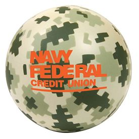 Customized Round Military Camouflage Stress Ball