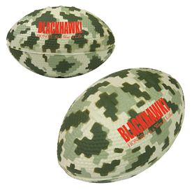 Custom Digital Camouflage Football Stress Reliever