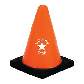 Promotional Construction Cone Advertising Stress Reliever