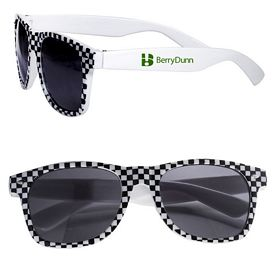 Customized Checkered Flag Racing Theme Based Sunglasses
