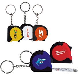 Promotional 325 Ft Mini Grip Tape Measure Key Chain