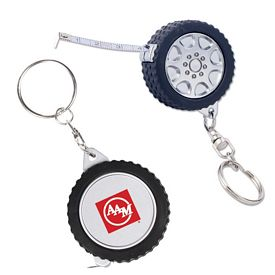 Promotional Tire 3 FT Tape Measure Key Chain