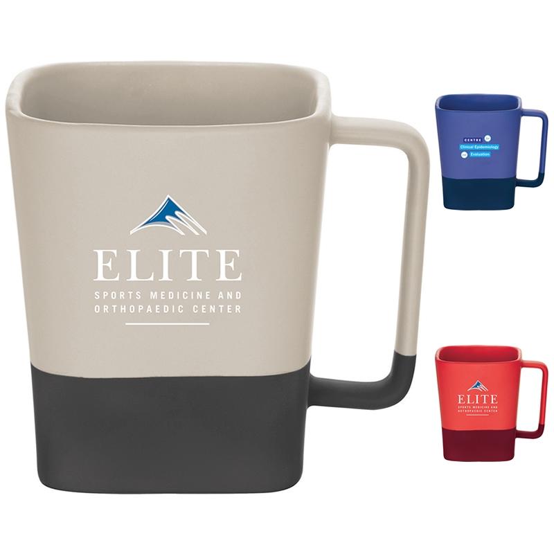 customized 14 oz color step ceramic mug promotional 14 oz color
