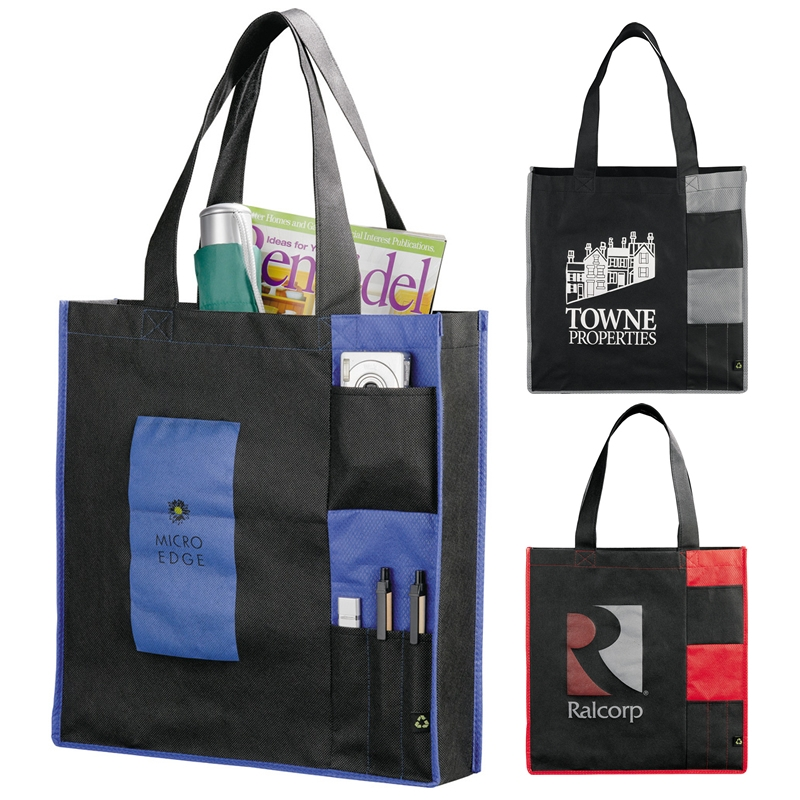 40adced328 Promotional PolyPro Non-Woven Pocket Tote Bag | Customized PolyPro ...