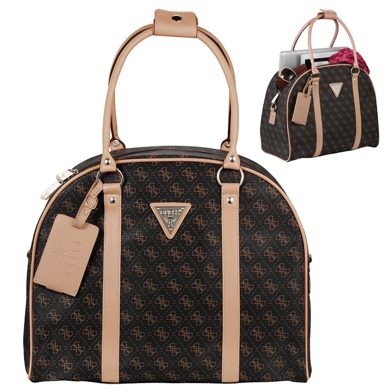 Promotioinal Guess Logo Affair Dome Travel Tote Bag