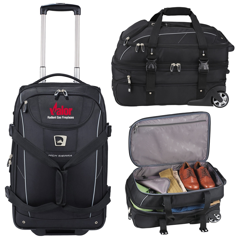 High Sierra Elite Carry On Bag Wheeled Duffel Closeout Item