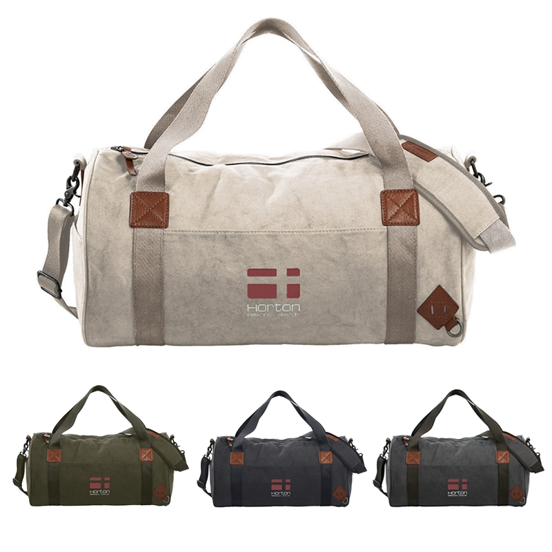 251bd6d32374 Promotioinal Alternative Basic Cotton Barrel Duffel Bag