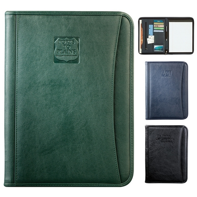 Custom Durahyde Zippered Padfolio