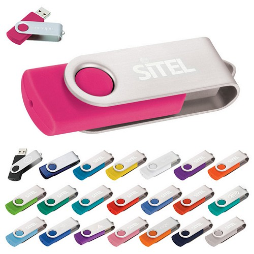 Promotional Rotate Usb Flash Drive 2Gb