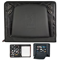 Promotional Elleven 14X11 Zippered Padfolio