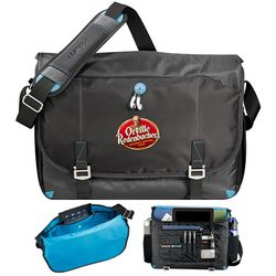Customized Zoom Checkpoint-Friendly Compu-Messenger Bag