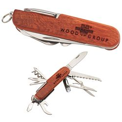Promotional Wooden 13 Function Pocket Knife