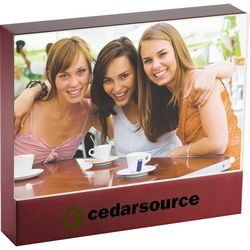 Custom 4 X 6 Brown Acrylic Photo Frame